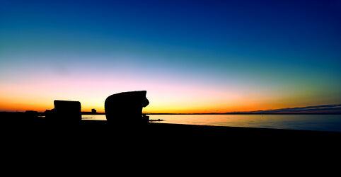 Timmendorfer Strand im Sonnenuntergang