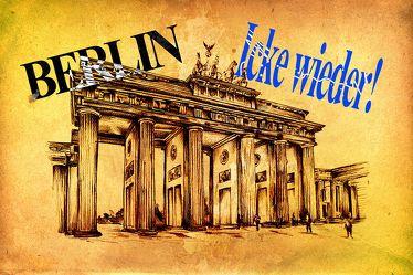 Berlin Brandenburger Tor Panorama Leinwand 01