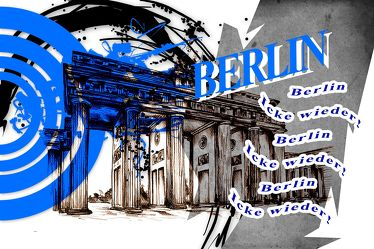 Berlin Brandenburger Tor Panorama Leinwand 05