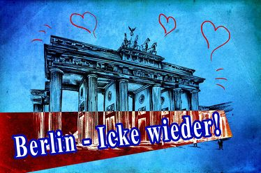Berlin Brandenburger Tor Panorama Leinwand 04