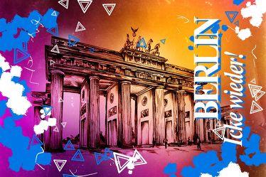 Berlin Brandenburger Tor Panorama Leinwand 14