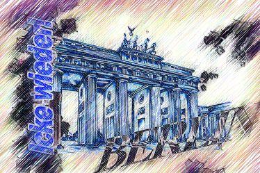 Berlin Brandenburger Tor Panorama Leinwand 22