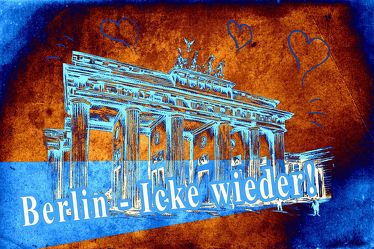 Berlin Brandenburger Tor Panorama Leinwand 24