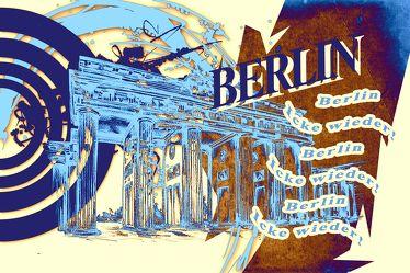 Berlin Brandenburger Tor Panorama Leinwand 25