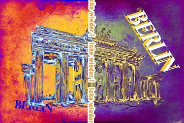 Brandenburger Tor Panorama Leinwand 29