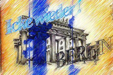 Brandenburger Tor Panorama Leinwand 47