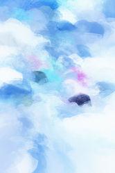 Bild mit Landschaften, Himmel, Wolken, Wolkenhimmel, Landschaft, Abstrakt, Design, Wolke, heller Himmel, pastell