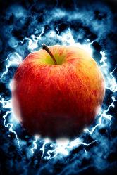 Bild mit Früchte, Malerei, Frucht, Obst, Küchenbild, Apfel, Apfel, Apple, Stillleben, Küchenbilder, KITCHEN, frisch, Küche, Kochbild, gemalte Früchte