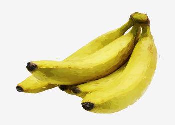 Bild mit Früchte, Bananen, Malerei, Frucht, Banane, Obst, Küchenbild, Stillleben, Küchenbilder, KITCHEN, frisch, Küche, Kochbild, gemalte Früchte, banana