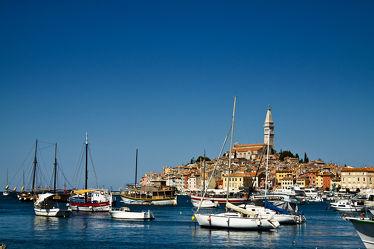 Bild mit Gebäude, Städte, Meer, Stadt, Kirche, Altstadt, Reisen, City, rovinj, kroatien, croatia