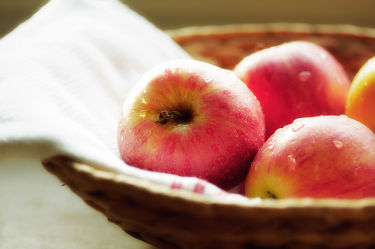 Apfel Körbchen