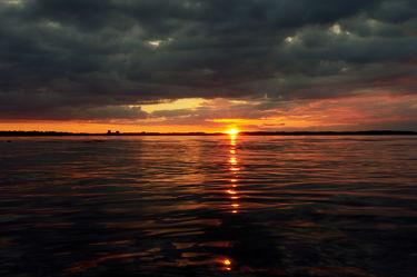 Sonnenuntergang bei Kiel