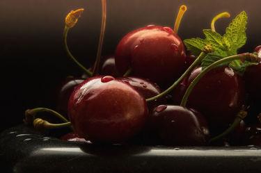 Bild mit Früchte, Lebensmittel, Frucht, Fruit, Obst, Küchenbild, Kirsche, Stillleben, Food, Küchenbilder, KITCHEN, GESUND, Küche, Kochbild, cherry, Kirschen, vegan, healthy