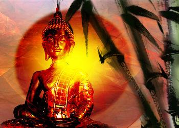 Bild mit Landschaft, balance, Ruhe, Entspannung, Stilleben, Buddha, Digital Art, Wellness, Fantasie, Textur, Feng Shui, Stille, asien, Buddhismus, Indien, Beten, Gebet, Religion, Dekoration, Glauben, zeitlos, gleichgewicht, ASIATISCH, BUDDHASTATUE, zen, fraktal, digital, yin yang, dekor, fractal, zeitgenössisch