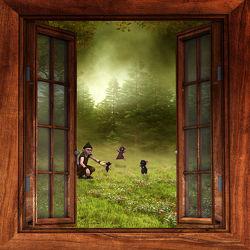 Bild mit Kinderbilder, Kinderzimmer