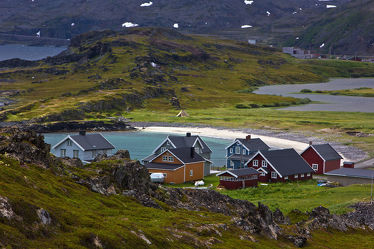 Häuser auf der Halbinsel Veines, Norwegen 2