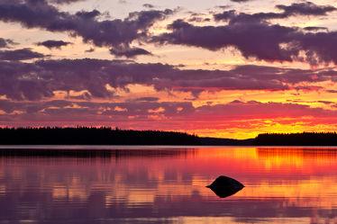 Stein am Lentuasee, Finnland 2