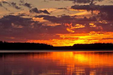Sonnenuntergang am Lentuasee, Finnland 2