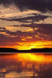 Sonnenuntergang am Lentuasee, Finnland 3