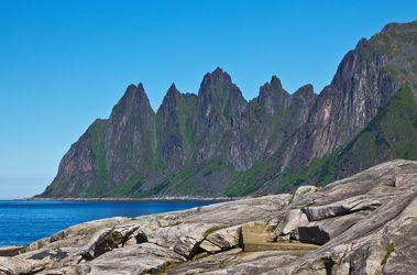 Gebirgskette Okshornan auf Senja, Norwegen 2