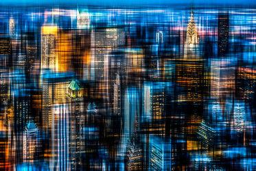 Bild mit Kunst, Abstrakt, art, New York, USA, Skyline, wolkenkratzer, NYC