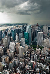 Bild mit New York, Skyline, hochhaus, wolkenkratzer, Hochhäuser, NYC, Manhatten