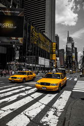 Yellow Cabs cruisin on the Time Square