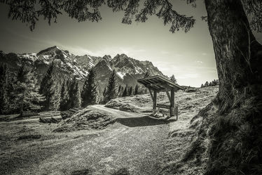 walking in the Alps - silver