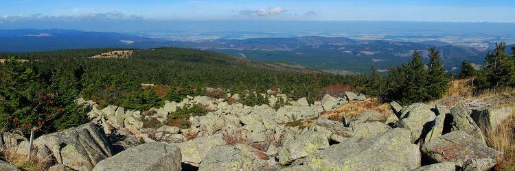 Bild mit Natur, Winter, Schnee, Wälder, Stein, Tannen, Wald, Panorama, Steine, Harz, Gebirge, Wandern