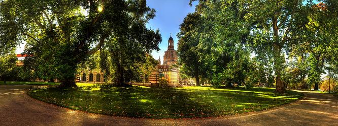 Bild mit Gebäude, Städte, Sommer, Häuser, Sonne, Panorama, Stadt, Dresden, Park, City, Stadtpark, Elbe, Stadtleben, elfufer