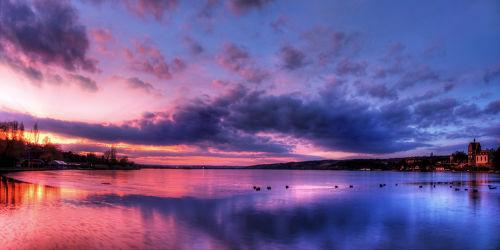 Bild mit Wasser, Himmel, Gewässer, Seen, Sonnenuntergang, Sonnenaufgang, Wolkenhimmel, See, Mansfeld Südharz