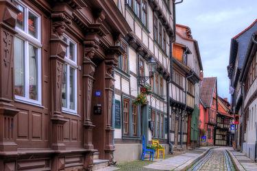 Bild mit Architektur, Gebäude, Städte, Häuser, Gasse, Haus, Stadt, landscape, Gassen, Quedlinburg