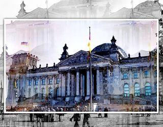 Bild mit Architektur, Gebäude, Wahrzeichen, Städte, Häuser, Berlin, Haus, Sehenswürdigkeit, Stadt, BERLINFEELING, City, Brandenburger Tor, Tourismus, reichstag, reichstag, berliner