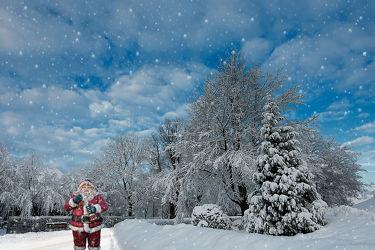 Bild mit Landschaften, Winter, Schnee, Landschaft, Weihnachten, Weihnachtsmann, winterlandschaft, Kälte, Frost