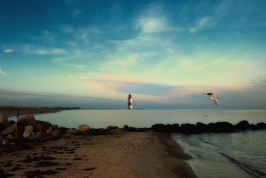 Bild mit Landschaften, Gewässer, Möwen, Leuchttürme, Strand, Meerblick, Ostsee, Meer, Möwe, Möve, Leuchtturm, Möven