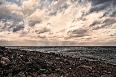 Bild mit Sonnenuntergang, Sonnenaufgang, Meerblick, Ostsee, Meer, Küste, Sonnenuntergänge