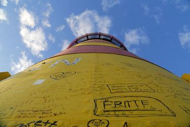 Graffiti am Turm
