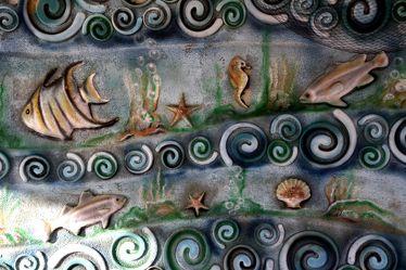 Unterwasserwelt als Wanddekoration