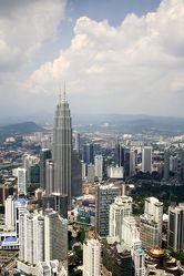 Bild mit Architektur, Reisefotografie, Skyline, hochhaus, wolkenkratzer, malaysia, asien