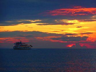 Bild mit Natur,Wasser,Seen,Strände,Sonnenuntergang,Sonnenaufgang,Schiffe,Strand,Ostsee,Schiff,boot,Meer,Boote,Landschaft,See,germany