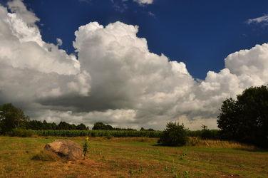 Abziehende Gewitterwolken