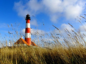 Bild mit Leuchttürme, Leuchttürme, Dünen, Nordsee, Nordseeküste, Schleswig_Holstein, Leuchtturm_Westerhever, Leuchtturm_Westerhever, Westerheversand
