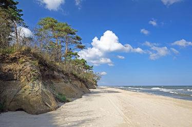 Bild mit Himmel,Wolken,Strände,Strand,Ostsee,Meer,Meer,Küste,Ostseeküste
