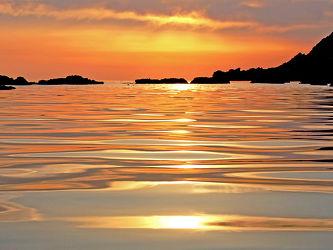Spiegelnde Abendsonne