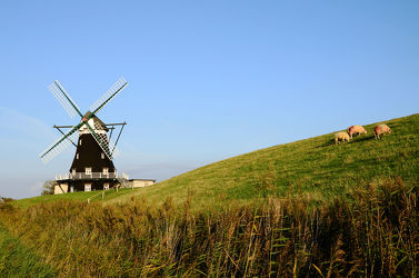 Windmühle am Deich