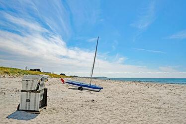 Bild mit Himmel, Wolken, Herbst, Urlaub, Strand, Gegenlicht, Ausspannen, Hiddensee, Relaxen