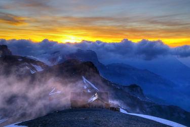 Sonnenuntergang auf der Blümlisalp III