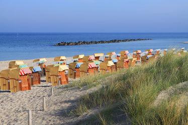 Bild mit Strände, Sand, Strand, Sandstrand, Meerblick, Strandkörbe, Ostsee, Meer, Strandkorb, Düne, Dünen, Am Strand, ozean, Badestrand
