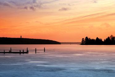 Bild mit Natur, Landschaften, Winter, Schnee, Eis, Sonnenuntergang, Häfen, Sonne, Berlin, Landschaft, See, Ruhe, Entspannung, Frost, Abend, spandau