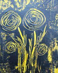 Bild mit Blumen, Malerei, Blume, Abstrakt